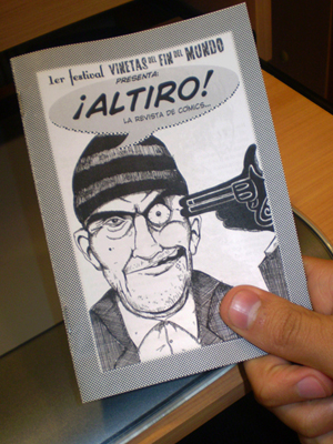La primera maqueta de ALTIRO, después de transnochar hasta las 4 AM...